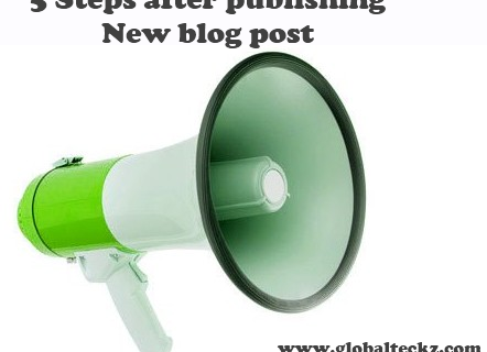5 steps after publishing a new blog post