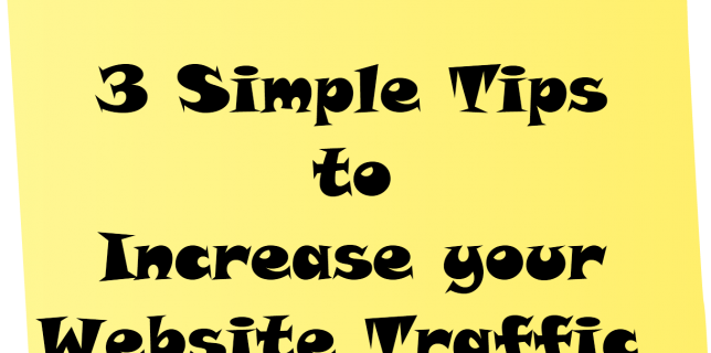 3 tips to gain website traffic (SEO)