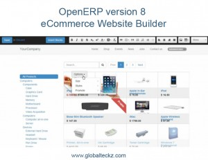 OpenERP version 8 eCommerce website builder - Features